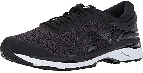Men's Asics Gel-Kayano 24 Running Shoe in Black/Phantom/White