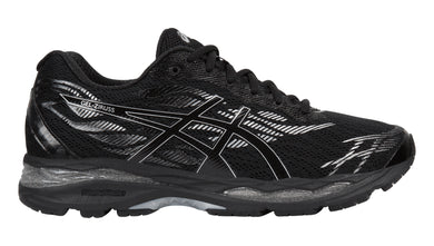 Men's Asics Gel-Ziruss Running Shoe in Black/Black/Silver
