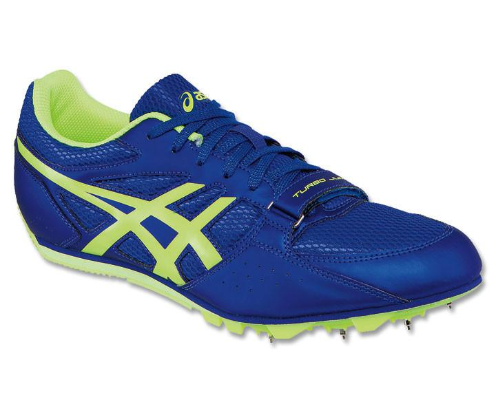 Men's Asics Heat Chaser Track & Field Shoe in Deep Blue/Flash Yellow