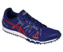Load image into Gallery viewer, Men's Asics Hyper XC Track & Field Shoe in Estate Blue/Vermilion/Rich Gold