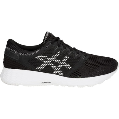 Men's Asics Roadhawk FF 2 Running Shoe in Black/White