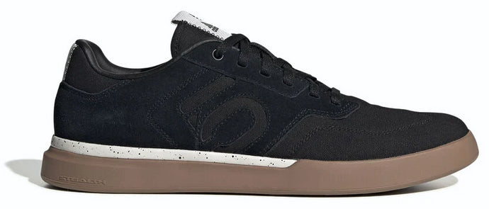 Men's Adidas Five Ten Sleuth Biking Shoe in Black/Black/Gum from the front