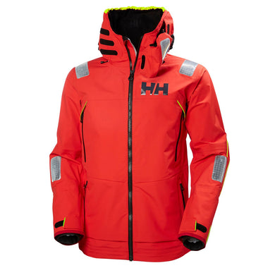 Helly Hansen Men's Aegir Race Jacket in Alert Red from the front
