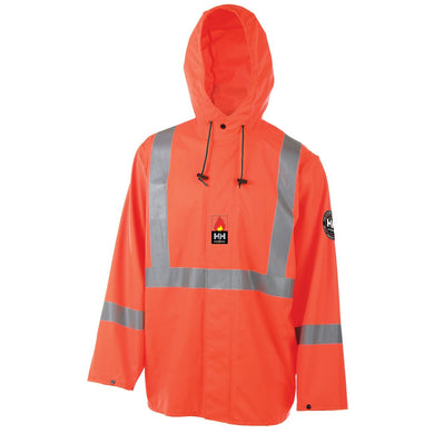 Helly Hansen Men's Alberta Stretch Flame Retardant Jacket in Hv Orange from the front