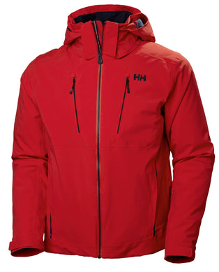 Helly Hansen Men's Alpha 3.0 Ski Jacket in Alert Red from the front