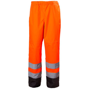 Helly Hansen Men's Alta Hi Vis Class 2 Insulated Pant in HV Orange/Charcoal from the front