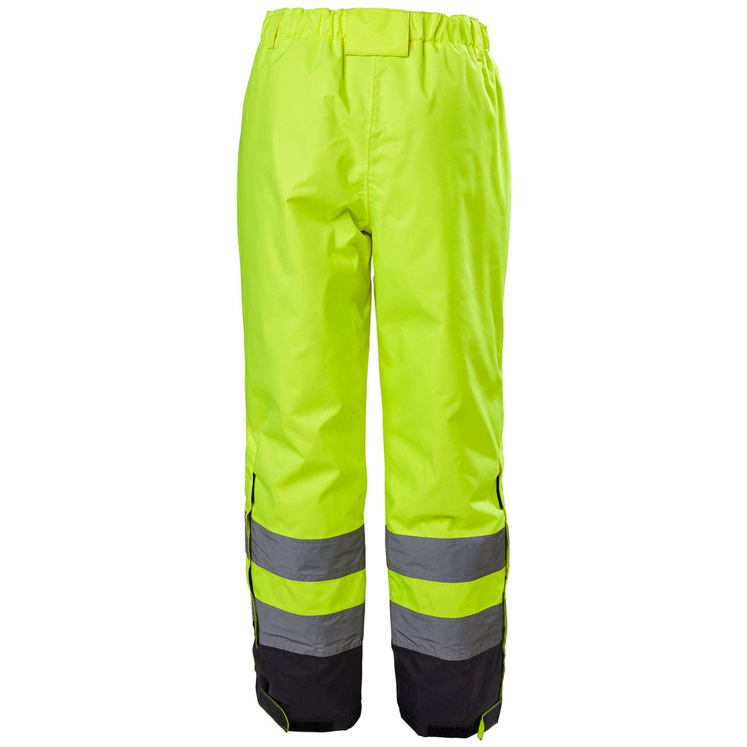Helly Hansen Men's Alta Hi Vis Class 2 Insulated Pant in HV Yellow/Charcoal from the front