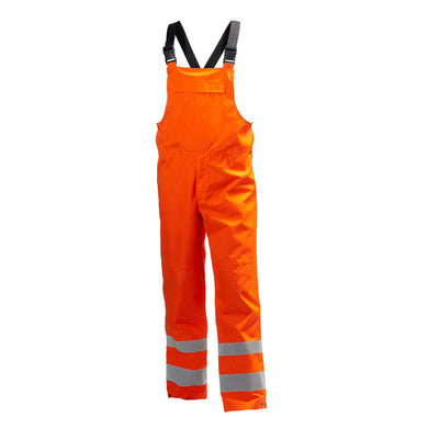 Helly Hansen Men's Alta Hi Vis Class 2 Shellter Bib in HV Orange from the front