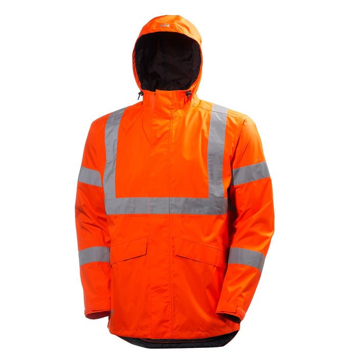 Helly Hansen Men's Alta Shelter Jacket in HV Orange from the front