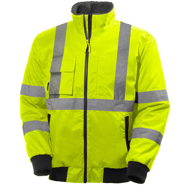 Helly Hansen Men's Alta Waterproof Pilot Jacket in HV Yellow from the front