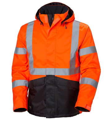 Helly Hansen Men's Alta Winter Jacket in Orange/Charcoal from the front