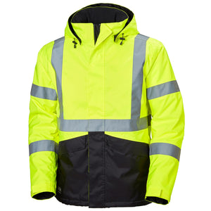Helly Hansen Men's Alta Winter Jacket in Yellow/Charcoal from the front