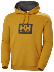 Helly Hansen Men's Box Hoodie Sweatshirt in Arrowwood from the front
