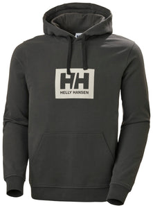 Helly Hansen Men's Box Hoodie Sweatshirt in Beluga from the front
