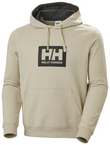 Helly Hansen Men's Box Hoodie Sweatshirt in Pelican from the front