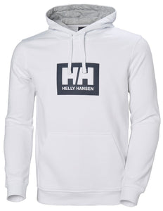 Helly Hansen Men's Box Hoodie Sweatshirt in White from the front
