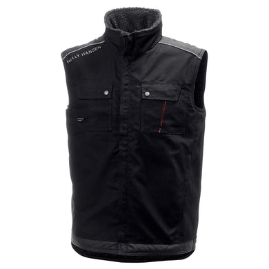 Helly Hansen Men's Chelsea Construction Vest in Black/Charcoal from the front