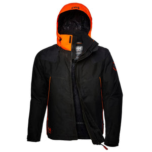 Helly Hansen Men's Chelsea Evolution Winter Jacket in Ebony from the front