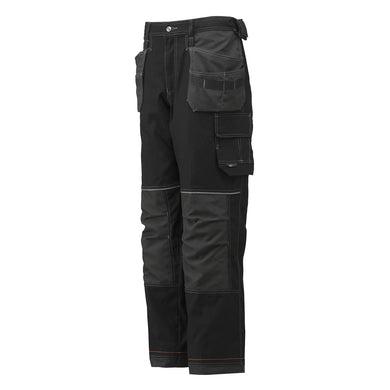 Helly Hansen Men's Chelsea Lined Construction Pant in Black/Charcoal from the front