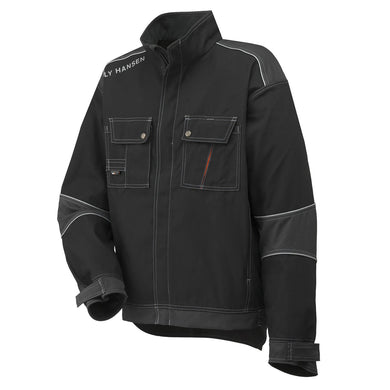 Helly Hansen Men's Chelsea Work Jacket in Black/Charcoal from the front