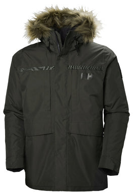 Helly Hansen Men's Coastal 2 Parka Jacket in Beluga from the front