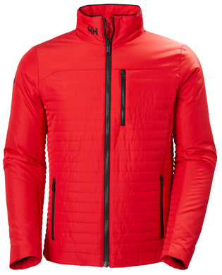 Helly Hansen Men's Crew Insulator Jacket in Alert Red from the front