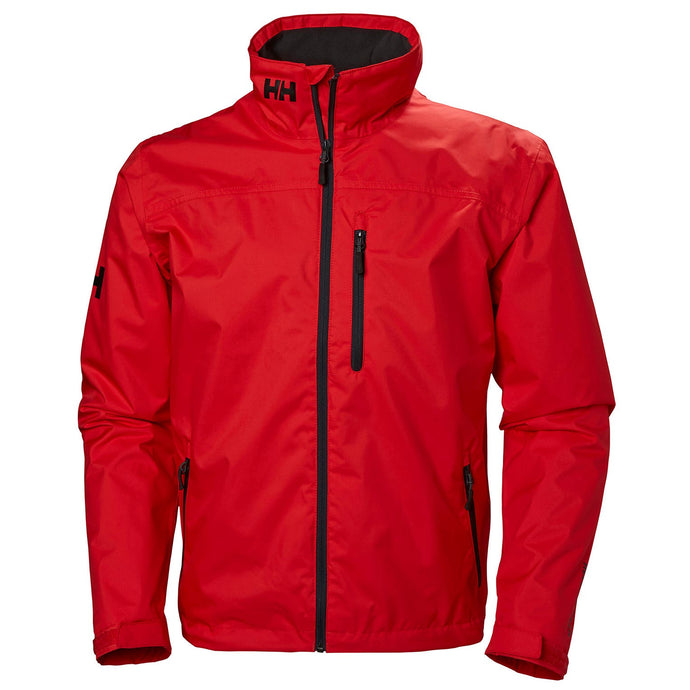 Helly Hansen Men's Crew Midlayer Jacket in Alert Red from the front