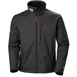 Helly Hansen Men's Crew Midlayer Jacket in Black from the front