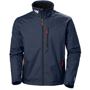 Helly Hansen Men's Crew Midlayer Jacket in Navy from the front