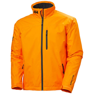 Helly Hansen Men's Crew Midlayer Jacket in Papaya from the front