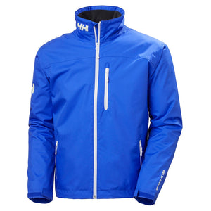 Helly Hansen Men's Crew Midlayer Jacket in Royal Blue from the front