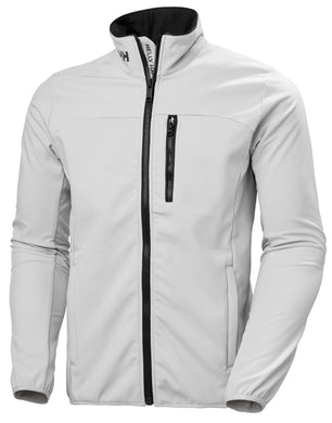 Helly Hansen Men's Crew Softshell Jacket in Grey Fog from the front