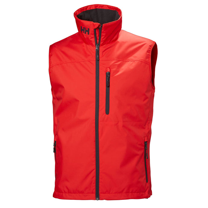 Helly Hansen Men's Crew Vest in Alert Red from the front