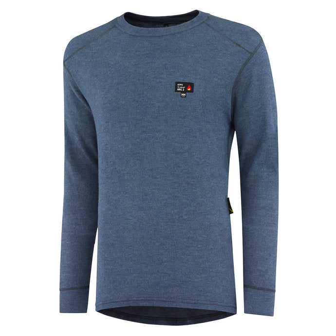 Helly Hansen Men's Fargo Flame Retardant Baselayer Crewneck in Royal Blue from the front
