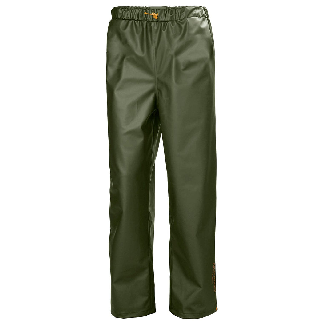 Helly Hansen Men's Gale Rain Pant in Army Green from the front