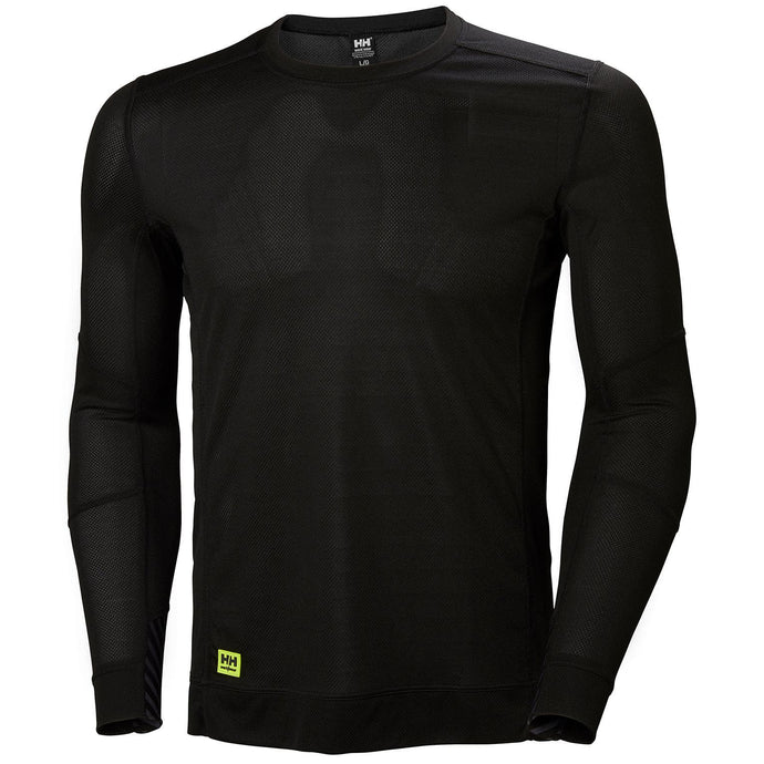 Helly Hansen Men's HH Lifa Crewneck in Black from the front