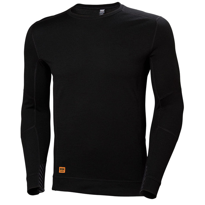 Helly Hansen Men's HH Lifa Max Crewneck in Black from the front