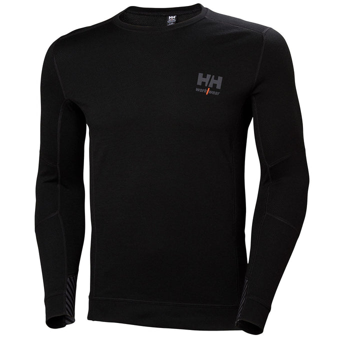 Helly Hansen Men's HH Lifa Merino Crewneck in Black from the front