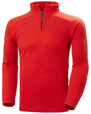Helly Hansen Men's HP 1/2 Zip Pullover in Alert Red from the front