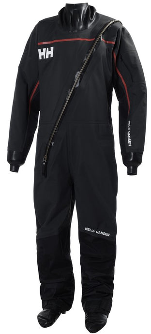 Helly Hansen Men's HP Waterproof Drysuit 2 Coverall in Ebony from the front