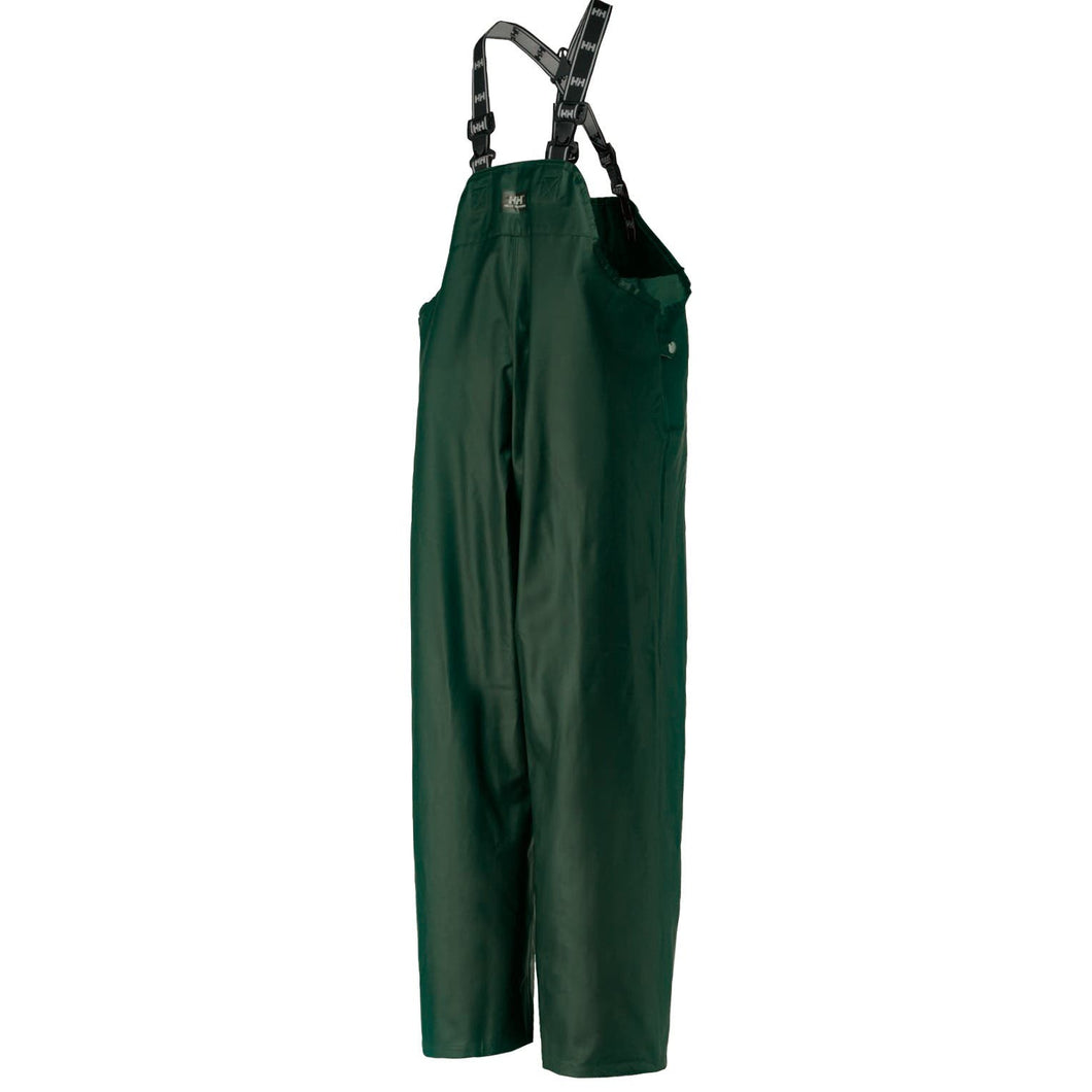 Helly Hansen Men's Highliner Waterproof Bib in Dark Green from the front