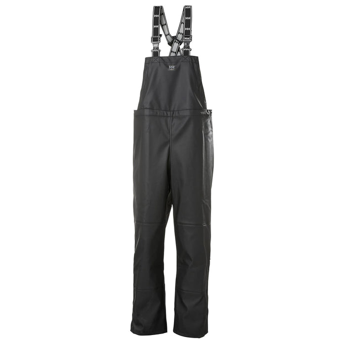 Helly Hansen Men's Impertech Rain Bib Pant in Black from the front