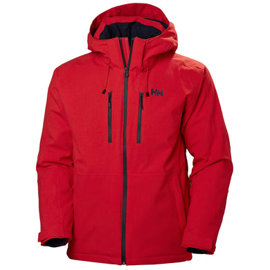 Helly Hansen Men's Juniper 3.0 Ski Jacket in Alert Red from the front