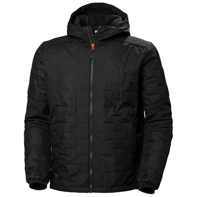 Helly Hansen Men's Kensington Hooded Lifaloft Jacket in Black from the front