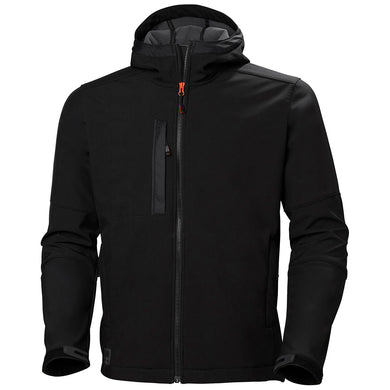 Helly Hansen Men's Kensington Hooded Softshell Jacket in Black from the front