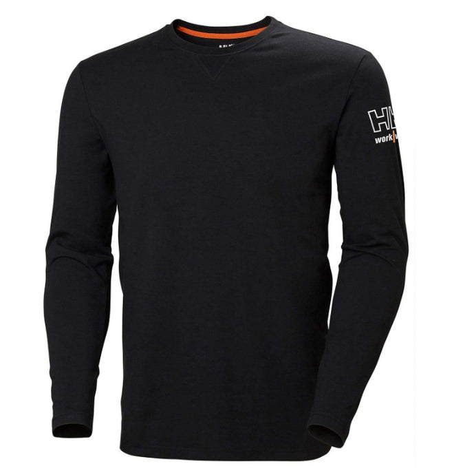 Helly Hansen Men's Kensington Longsleeve Sweaters in Black from the front