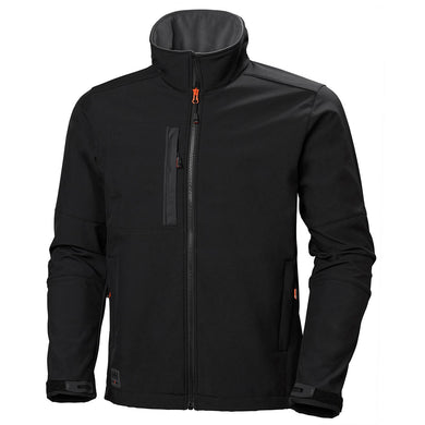 Helly Hansen Men's Kensington Softshell Jacket in Black from the front