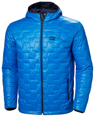 Helly Hansen Men's Lifaloft Hooded Insulator Jacket in Electric Blue from the front