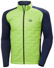 Load image into Gallery viewer, Helly Hansen Men's Lifaloft Hybrid Insulator Jacket in Azid Lime from the front