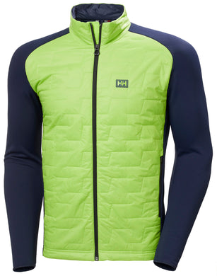 Helly Hansen Men's Lifaloft Hybrid Insulator Jacket in Azid Lime from the front